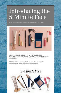 Introducing the 5-Minute Face