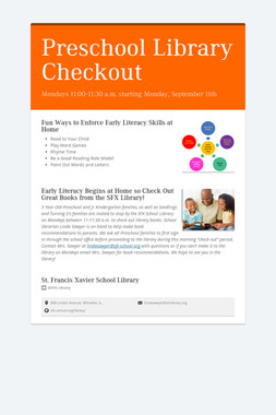 Preschool Library Checkout