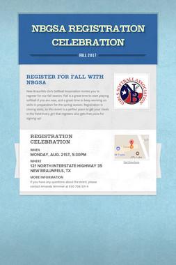 NBGSA Registration Celebration