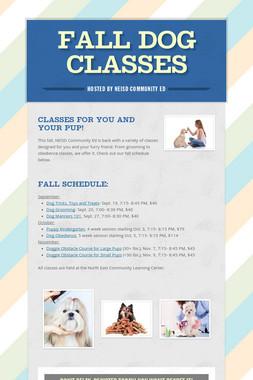Fall Dog Classes