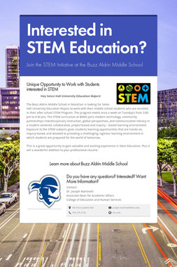 Interested in STEM Education?