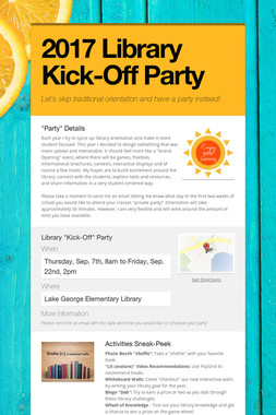 2017 Library Kick-Off Party