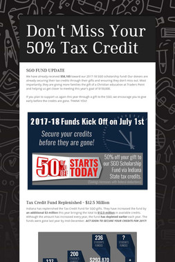 Don't Miss Your 50% Tax Credit