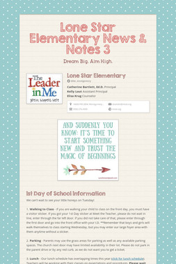 Lone Star Elementary News & Notes 3