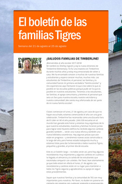 El boletín de las familias Tigres