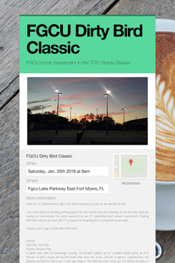FGCU Dirty Bird Classic