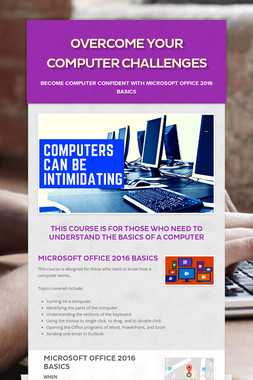 Overcome Your Computer Challenges