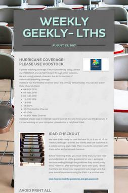 Weekly Geekly- LTHS