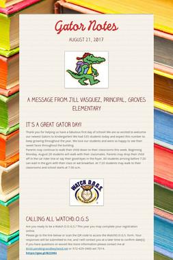 Gator Notes