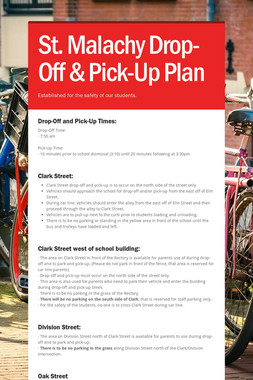 St. Malachy Drop-Off & Pick-Up Plan