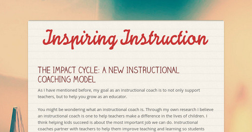 Inspiring Instruction Smore Newsletters For Education