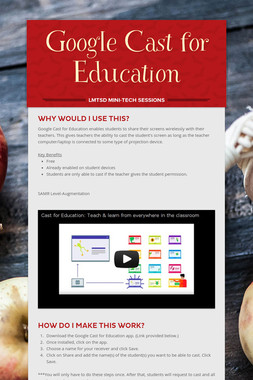 Google Cast for Education