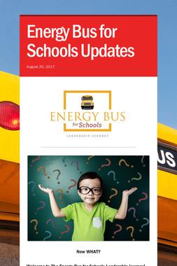 Energy Bus for Schools Updates