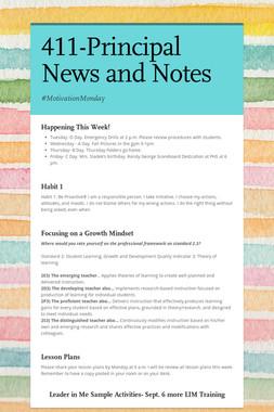 411-Principal News and Notes