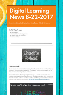 Digital Learning News 8-22-2017