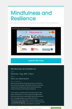 Mindfulness and Resilience