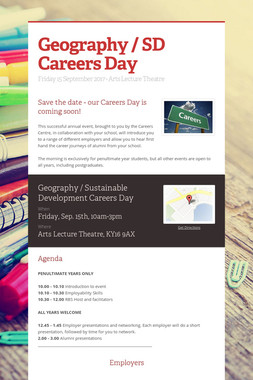 Geography / SD Careers Day