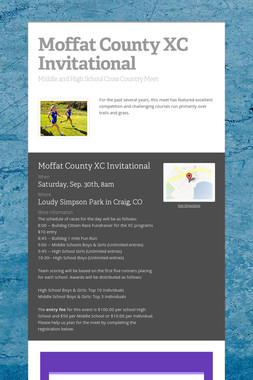 Moffat County XC Invitational