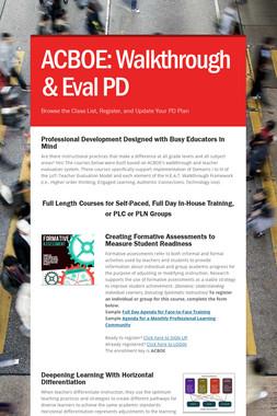 ACBOE: Walkthrough & Eval PD