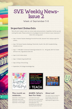 SVE Weekly News-Issue 2