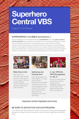 Superhero Central VBS