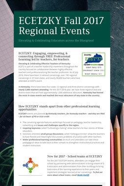 ECET2KY Fall 2017 Regional Events