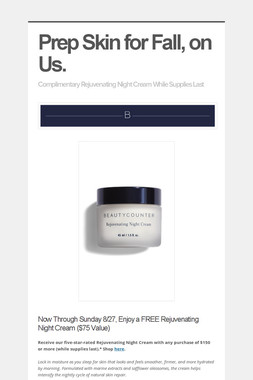 Prep Skin for Fall, on Us.