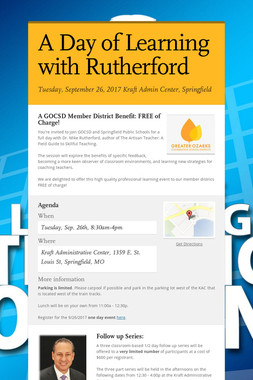 A Day of Learning with Rutherford