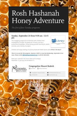 Rosh Hashanah Honey Adventure