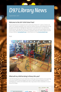 D97 Library News