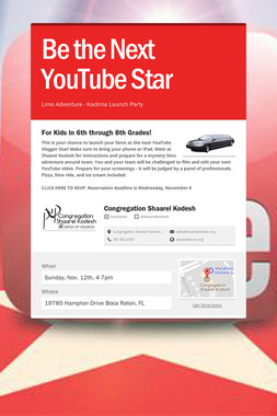Be the Next YouTube Star
