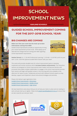 School Improvement News