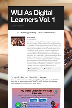 WLI As Digital Learners Vol. 1
