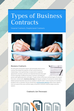 Types of Business Contracts
