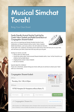 Musical Simchat Torah!