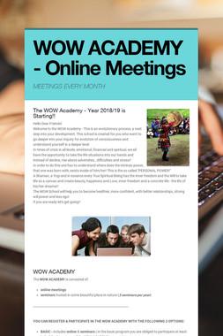 WOW ACADEMY - Online Meetings