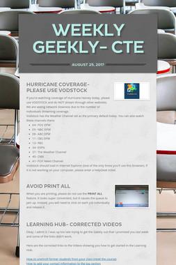 Weekly Geekly- CTE
