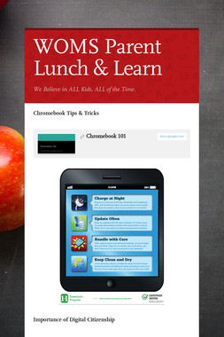 WOMS Parent Lunch & Learn