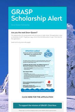 GRASP Scholarship Alert