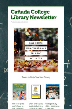 Cañada College Library Newsletter