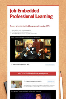 Job-Embedded Professional Learning