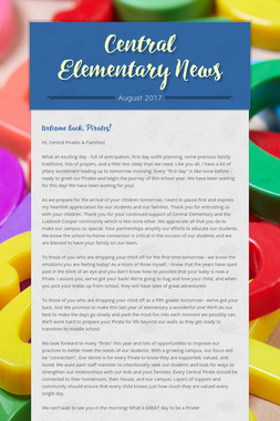 Central Elementary News