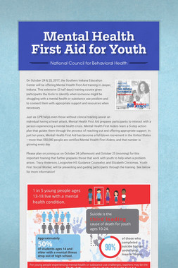 Mental Health First Aid for Youth