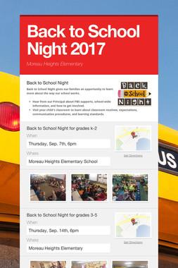 Back to School Night 2017