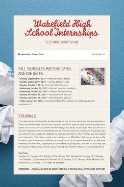 Wakefield High School Internships