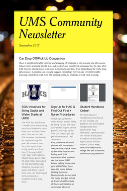 UMS Community Newsletter