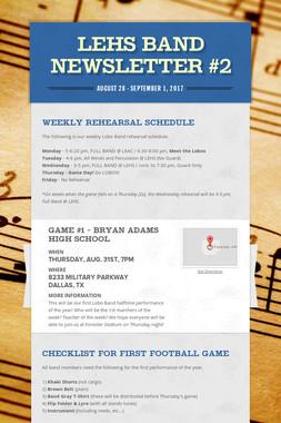 LEHS Band Newsletter #2