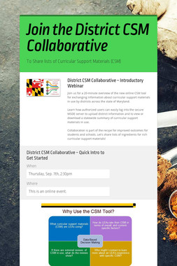 Join the District CSM Collaborative