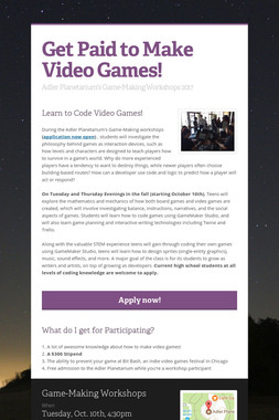 Get Paid to Make Video Games!