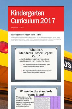 Kindergarten Curriculum 2017